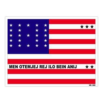 استیکر مستر راد طرح پرچم آتول بیکینی مدل HSE033