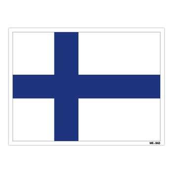 استیکر مستر راد طرح پرچم فنلاند مدل HSE 091