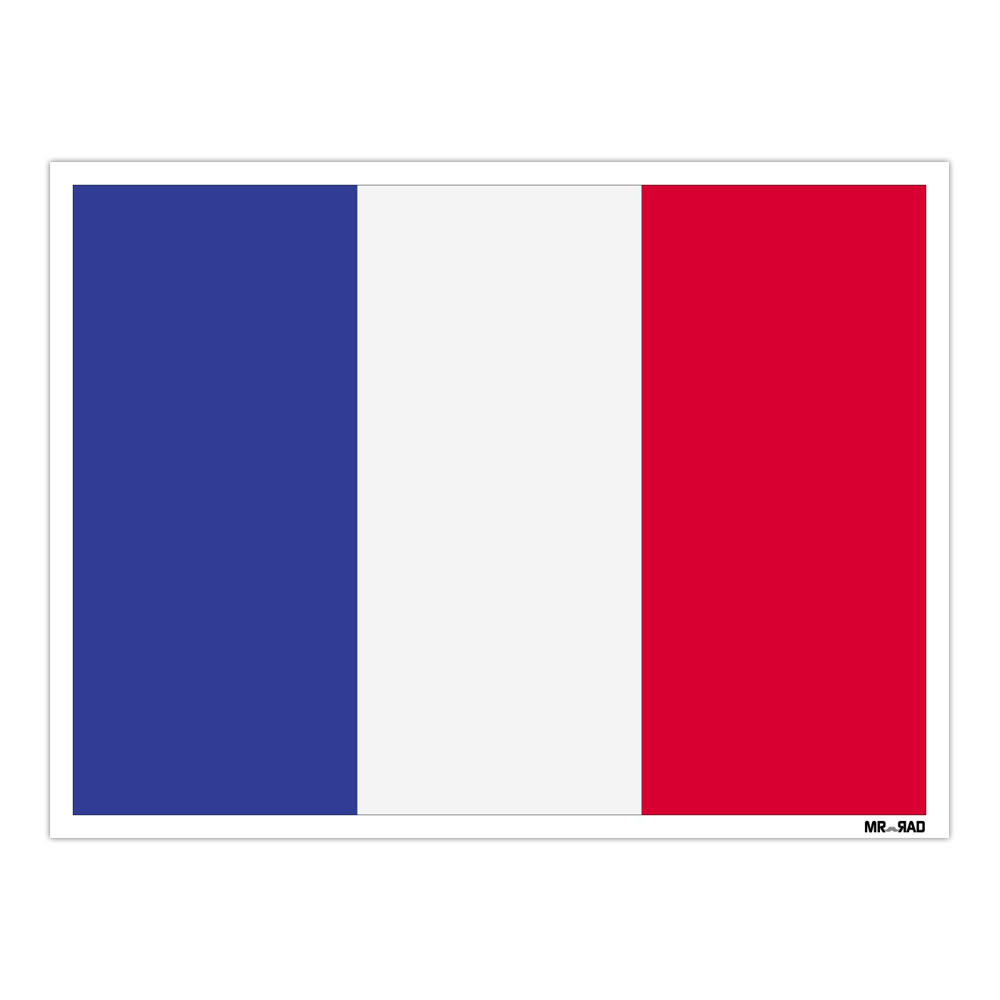 استیکر فراگراف FG طرح پرچم فرانسه مدل HSE 092