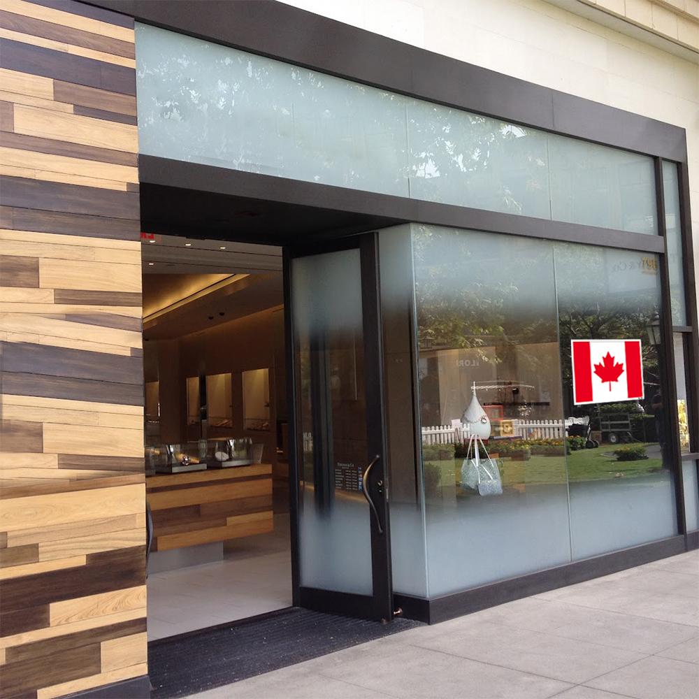 استیکر فراگراف FG طرح پرچم کانادا مدل HSE 049