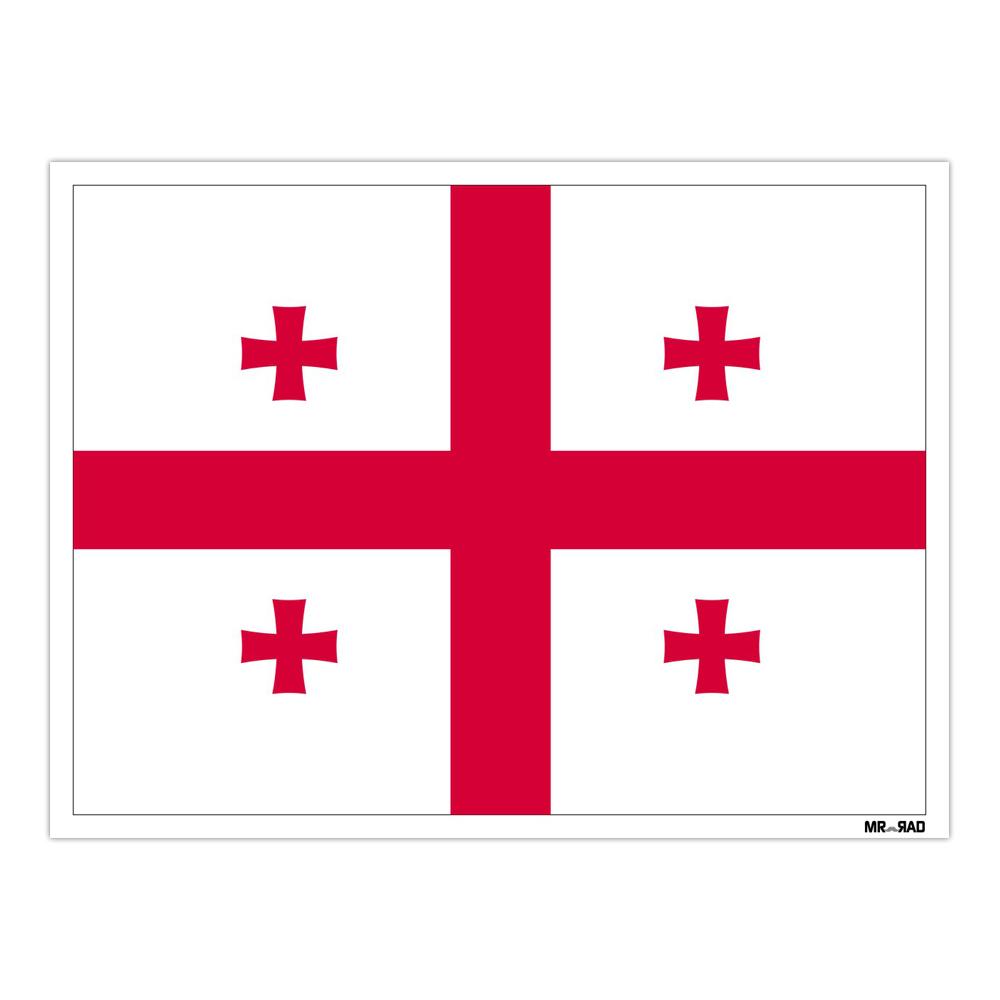 استیکر فراگراف FG طرح پرچم گرجستان مدل HSE 097