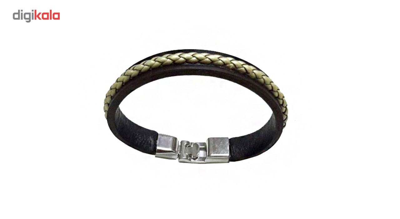 دستبند چرمی مانی چرم مدل BL-159 سایز L -  - 5