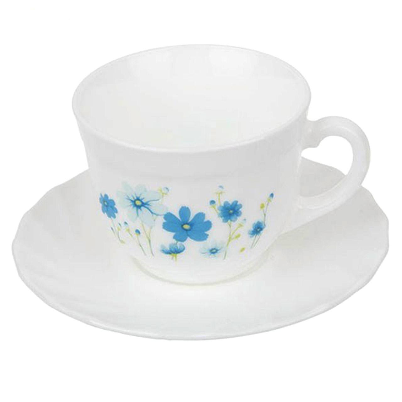 سرویس چای خوری 12 پارچه لومینارک مدل کانتری فلوور