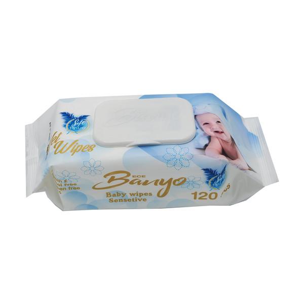 دستمال مرطوب کودک بانیو مدل a45 بسته 120عددی