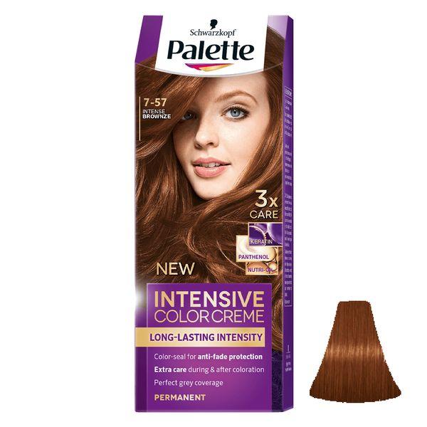 کیت رنگ مو پلت سری Intensive شماره 57-7 حجم 50 میلی لیتر رنگ برنزی