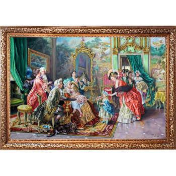 تابلو نقاشی رنگ روغن طرح مهمانی بزرگ
