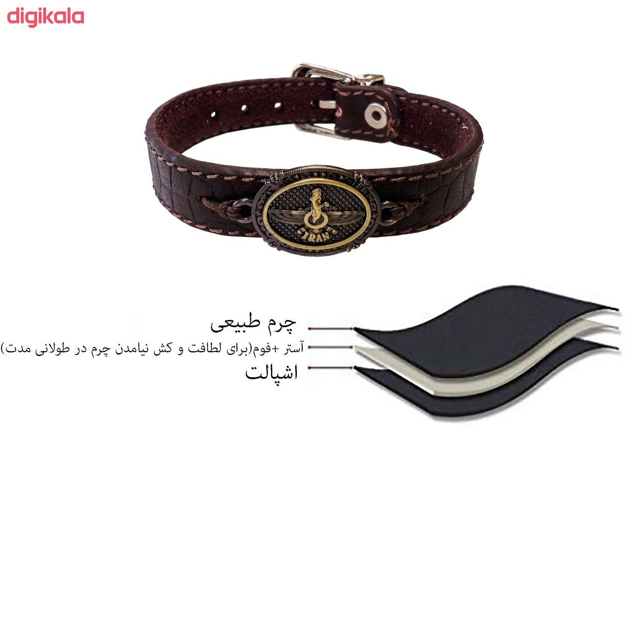 دستبند چرم وارک مدل پرهام کد rb60 main 1 9