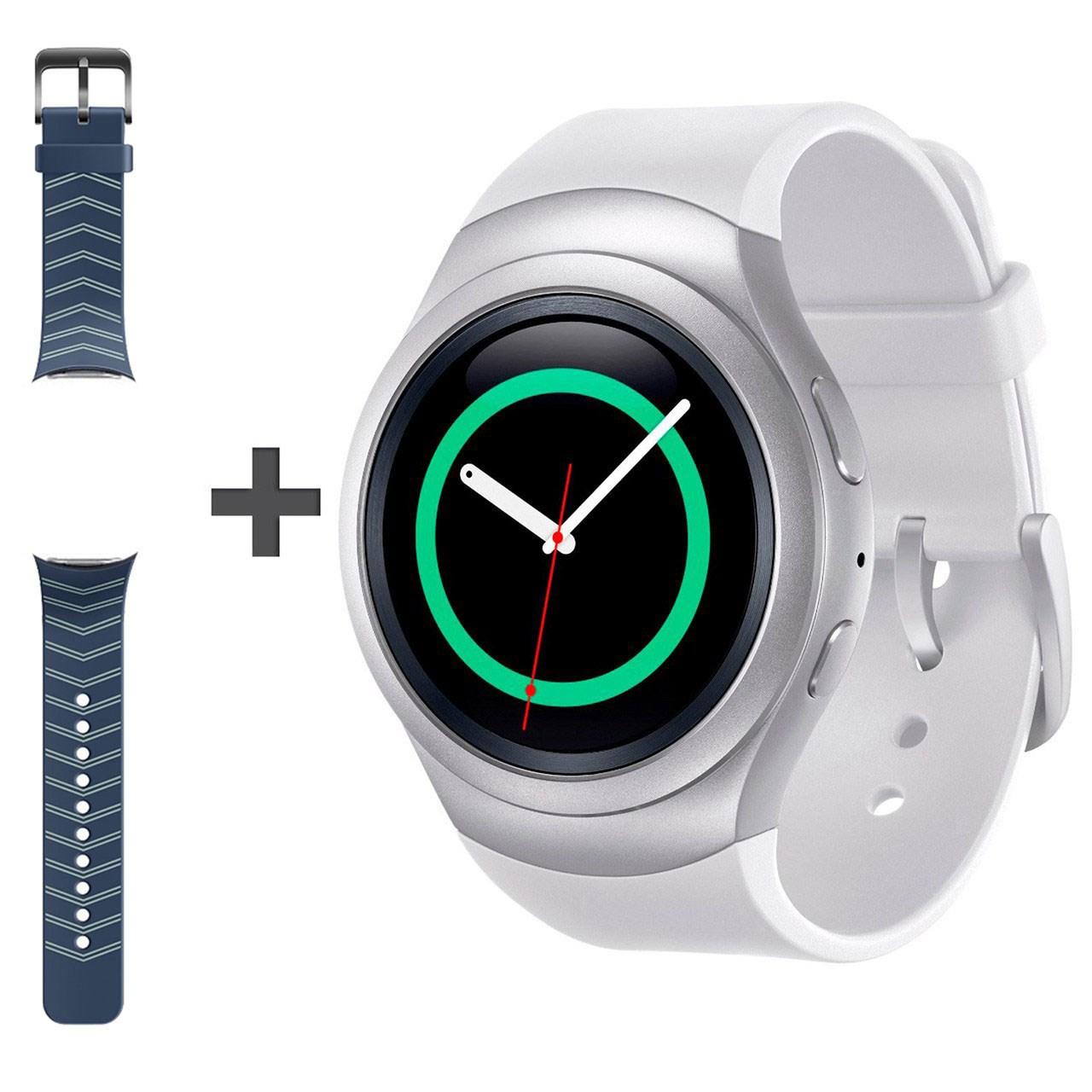 ساعت هوشمند سامسونگ مدل Gear S2 SM-R720 به همراه بند لاستیکی آبی اضافه
