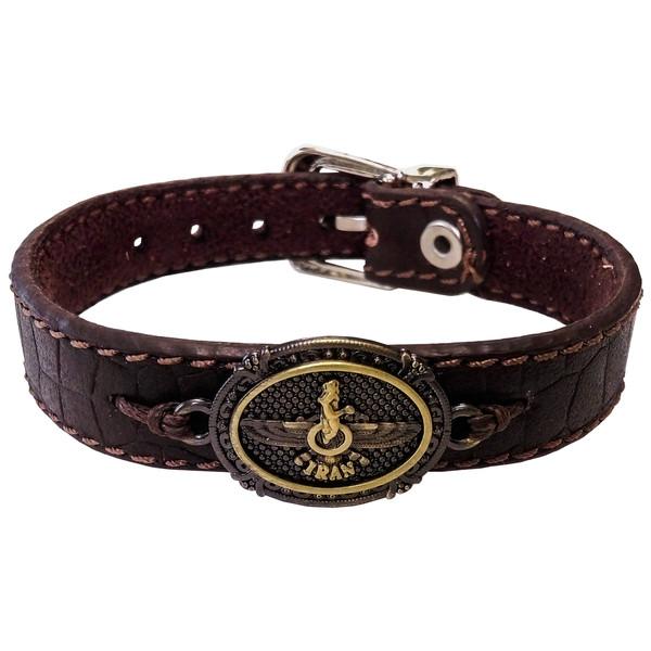 دستبند چرم وارک مدل پرهام کد rb60