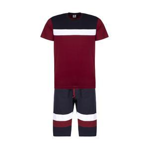 ست تی شرت و شلوارک مردانه پندار مدل B338 کد C3