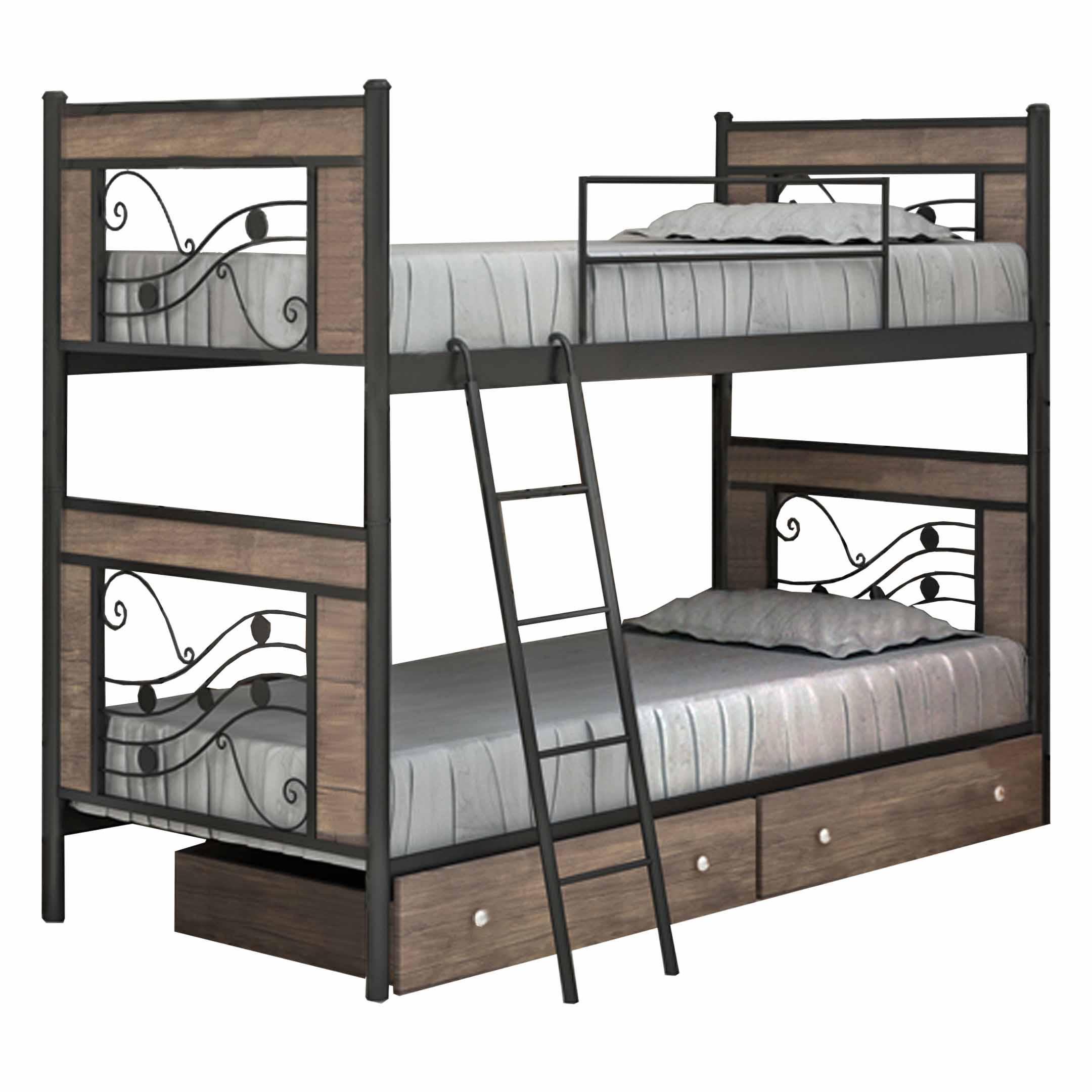 تخت خواب دو طبقه کد SH03 سایز 90x200 سانتیمتر