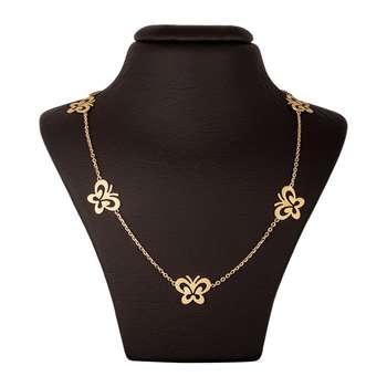 گردنبند طلا 18 عیار زنانه جواهری سون مدل 2519