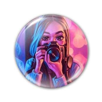 پیکسل طرح دختر عکاس کد 30053
