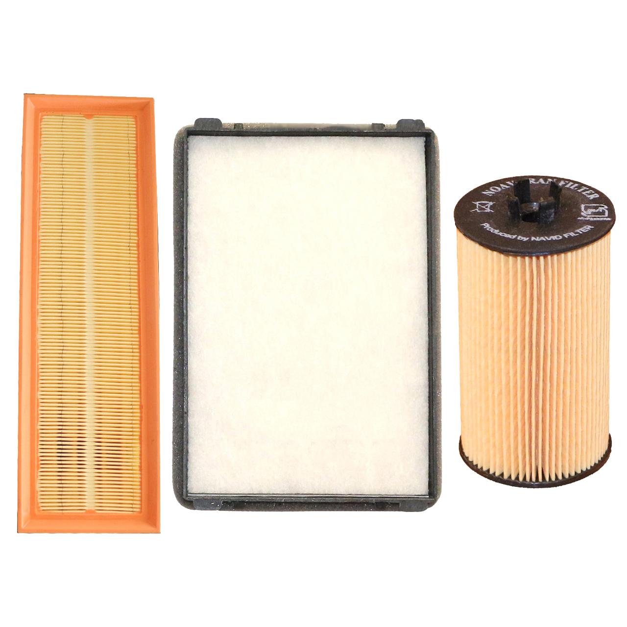 فیلتر روغن خودرو نوآوران فیلتر مدل EF7 مناسب برای سمند ملی به همراه فیلتر هوا و فیلتر کابین