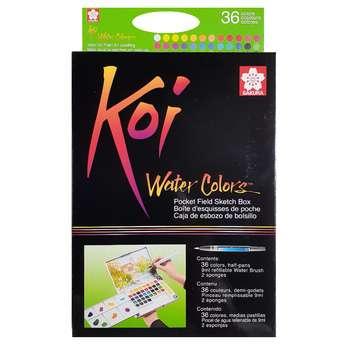 آبرنگ 36 رنگ ساکورا مدل koi