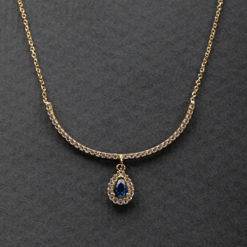 نیم ست طلا 18 عیار زنانه جواهری سون مدل 2460