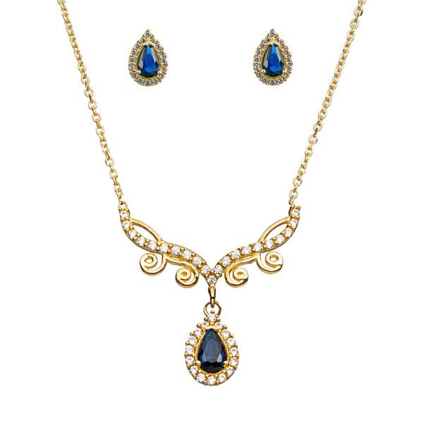 نیم ست طلا 18 عیار زنانه جواهری سون مدل 2465