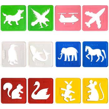 شابلون دانشمند مدل حیوانات مجموعه 12 عددی