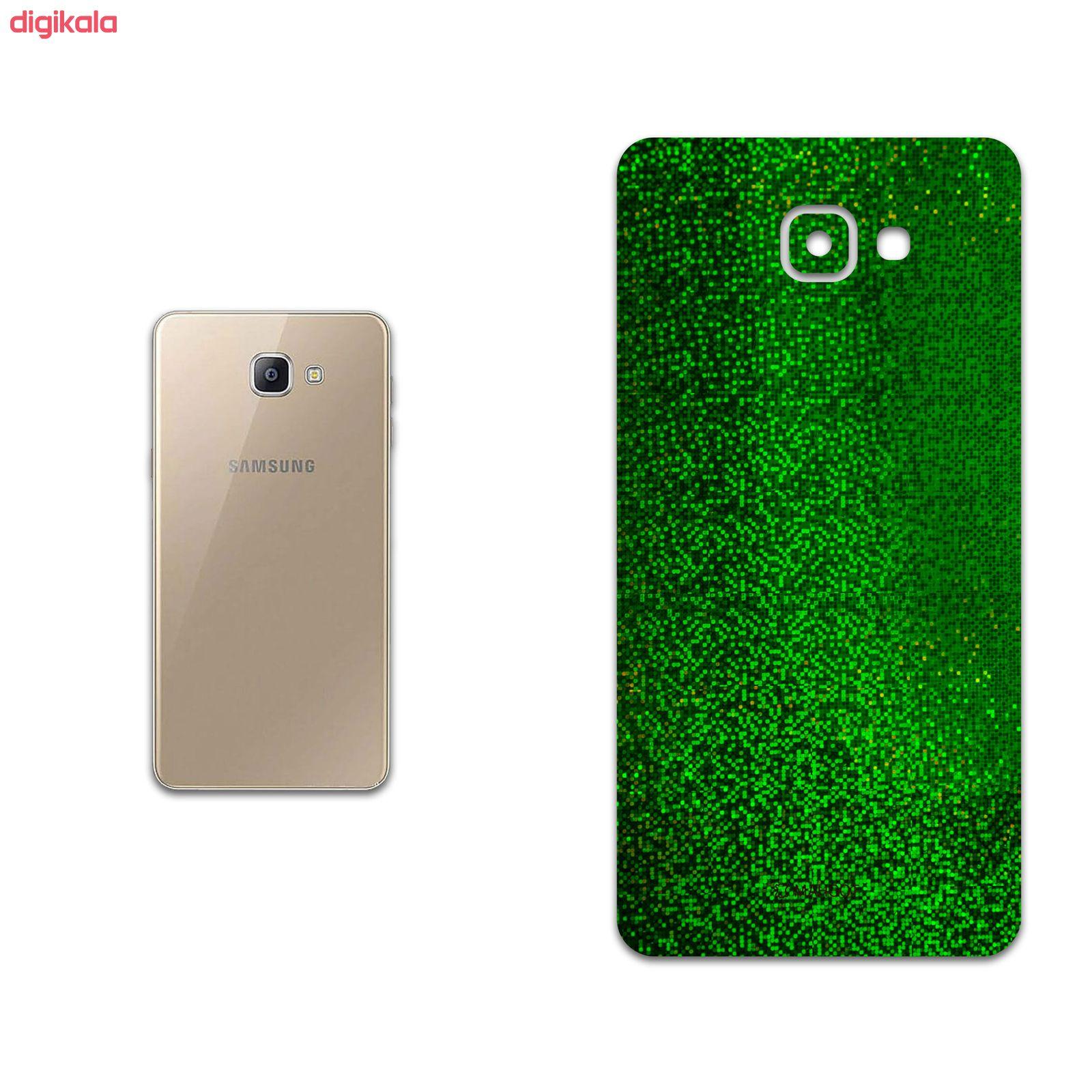 خرید اینترنتی با تخفیف ویژه برچسب پوششی ماهوت مدل Green-Holographic مناسب برای گوشی موبایل سامسونگ Galaxy A9 2016