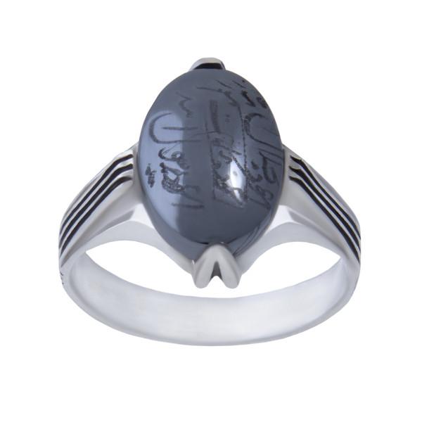 انگشتر نقره مردانه بازرگانی میلادی کد  AM_048