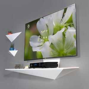 میز تلویزیون دیواری راهپود مدل نیلوفر A113 همراه با 2 طبقه دیواری