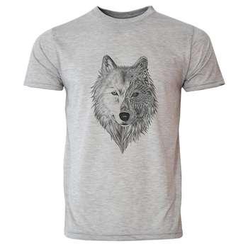 تی شرت آستین کوتاه مردانه طرح گرگ کد 20013
