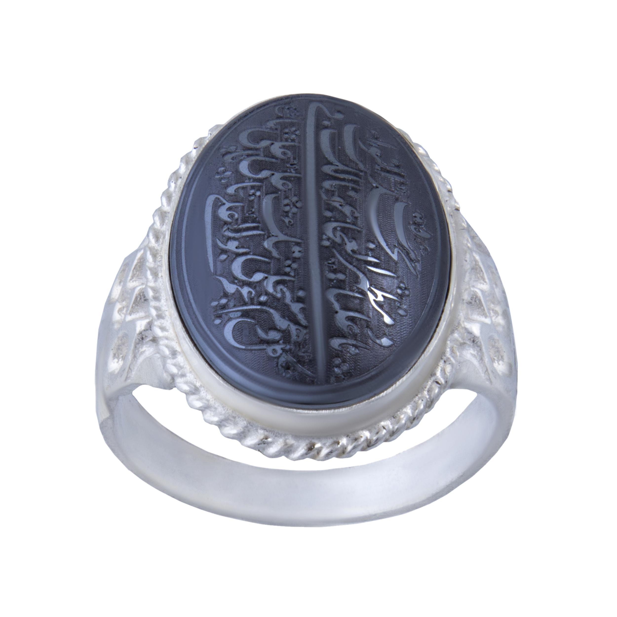 انگشتر نقره مردانه بازرگانی میلادی کد  AM_076
