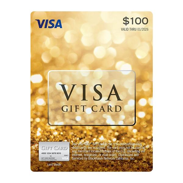 گیفت کارت 100 دلاری ویزا کد CA100