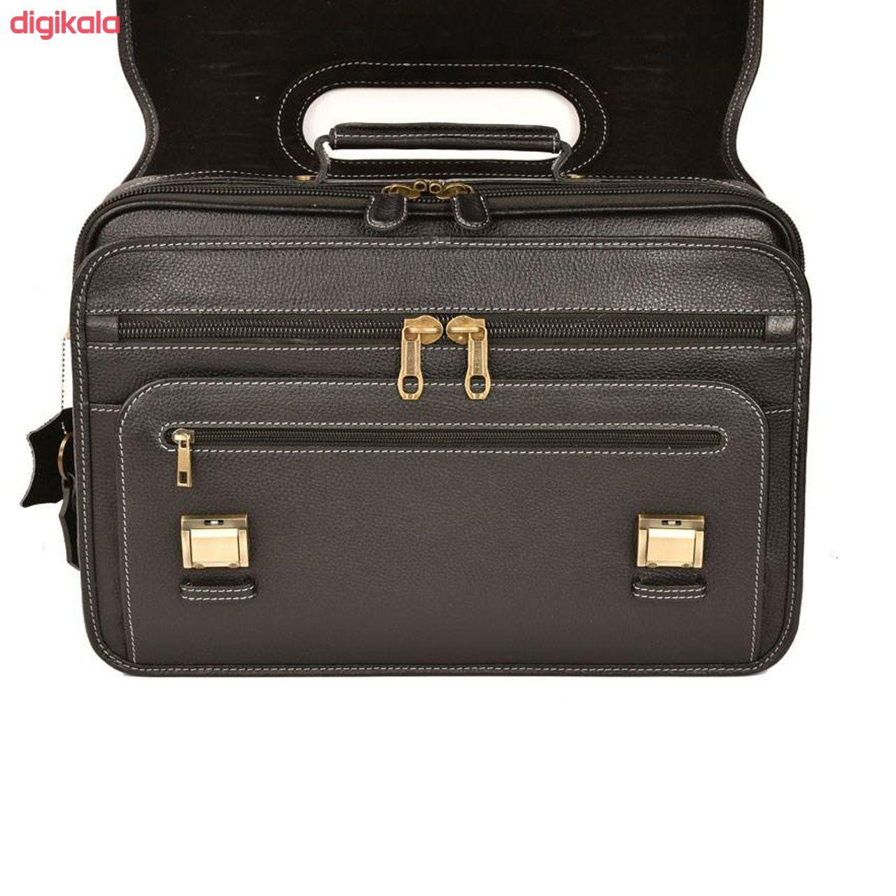 کیف اداری مردانه پارینه چرم مدل LT1 main 1 30