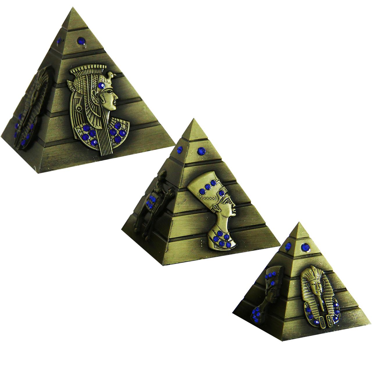 ماکت دکوری طرح اهرام مصر کد 6-112 مجموعه 3 عددی