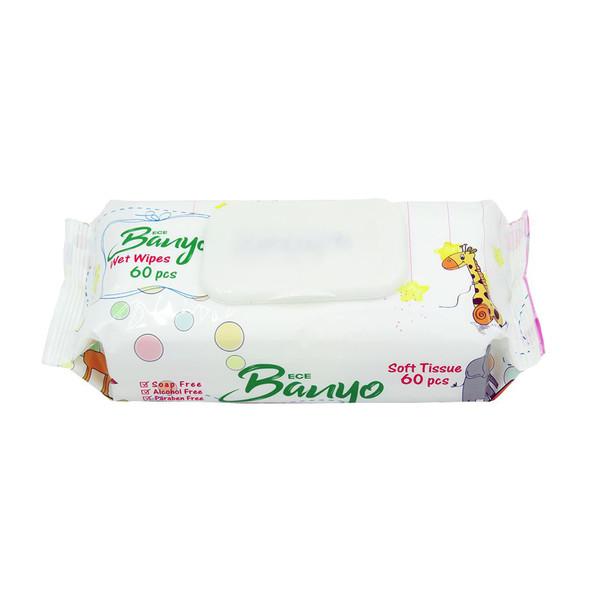 دستمال مرطوب بانیو مدل 01 بسته 60 عددی