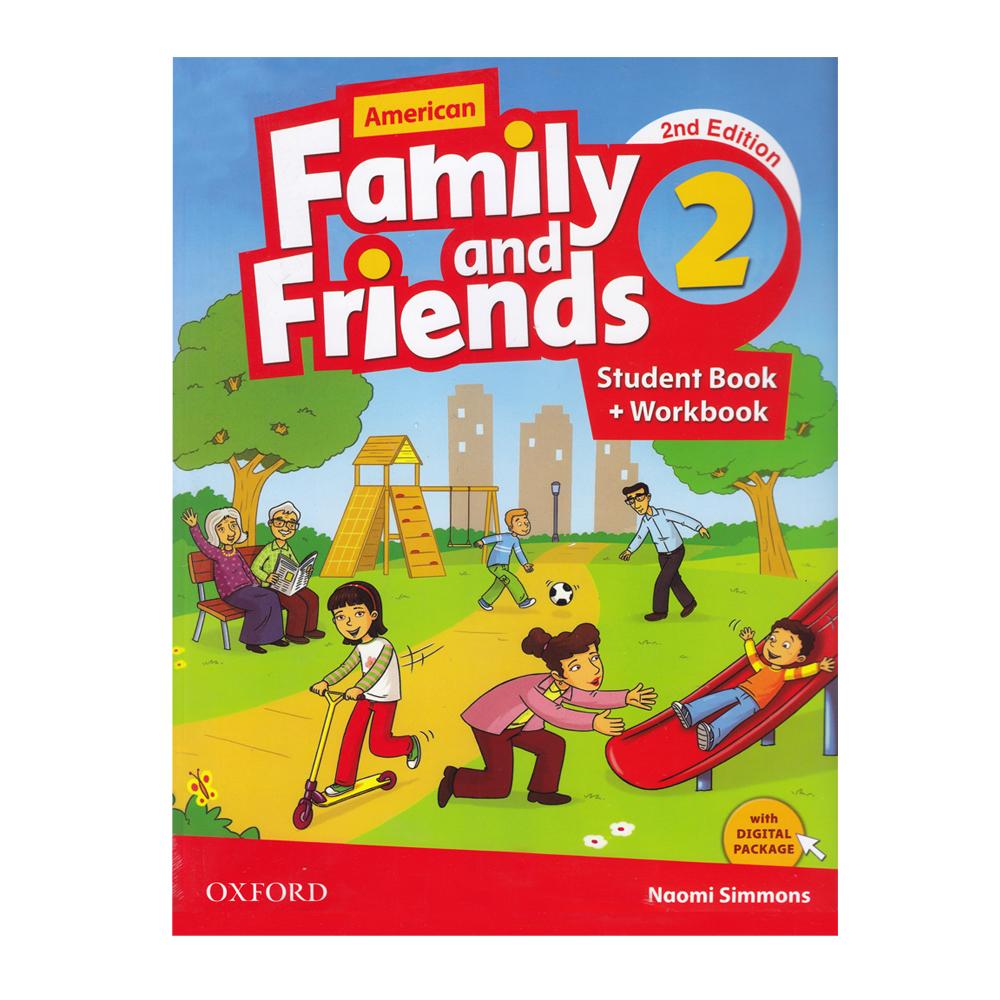 خرید                      کتاب American Family And Friends 2 اثر Naomi Simmons انتشارات Oxford