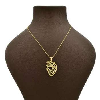 گردنبند طلا 18عیار زنانه طرح قلب کد UN002