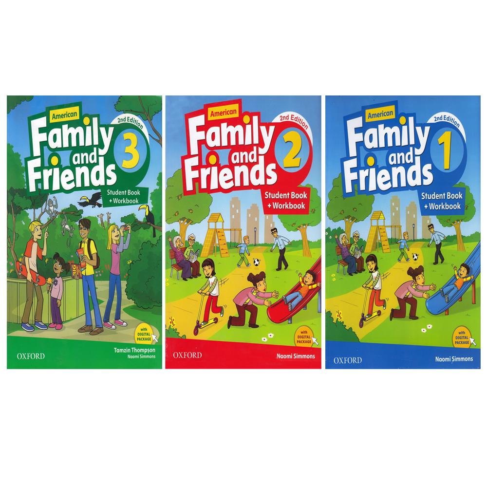 خرید                      کتاب American Family And Friends اثر Tamzin Thompson and Naomi Simmons انتشارات Oxford سه جلدی