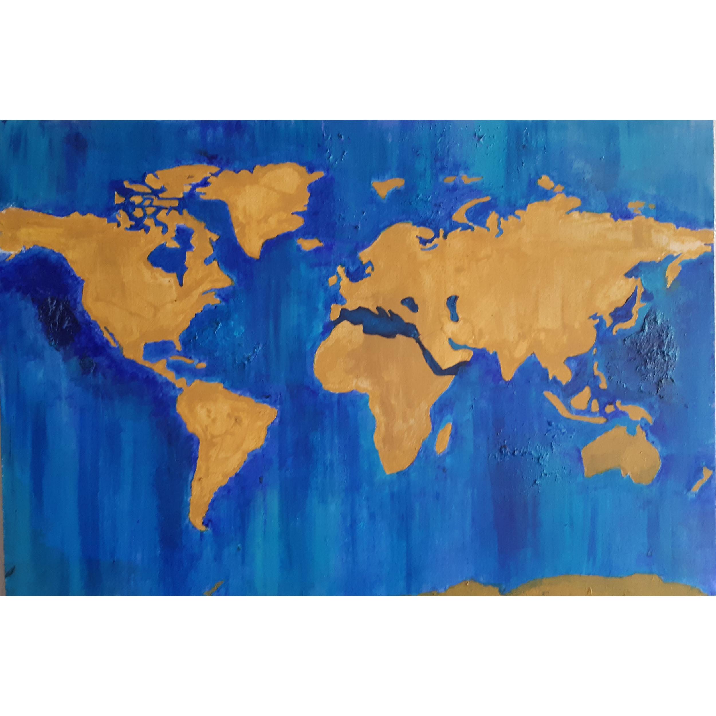 تابلو  طرح نقشه جهان کد AS-05