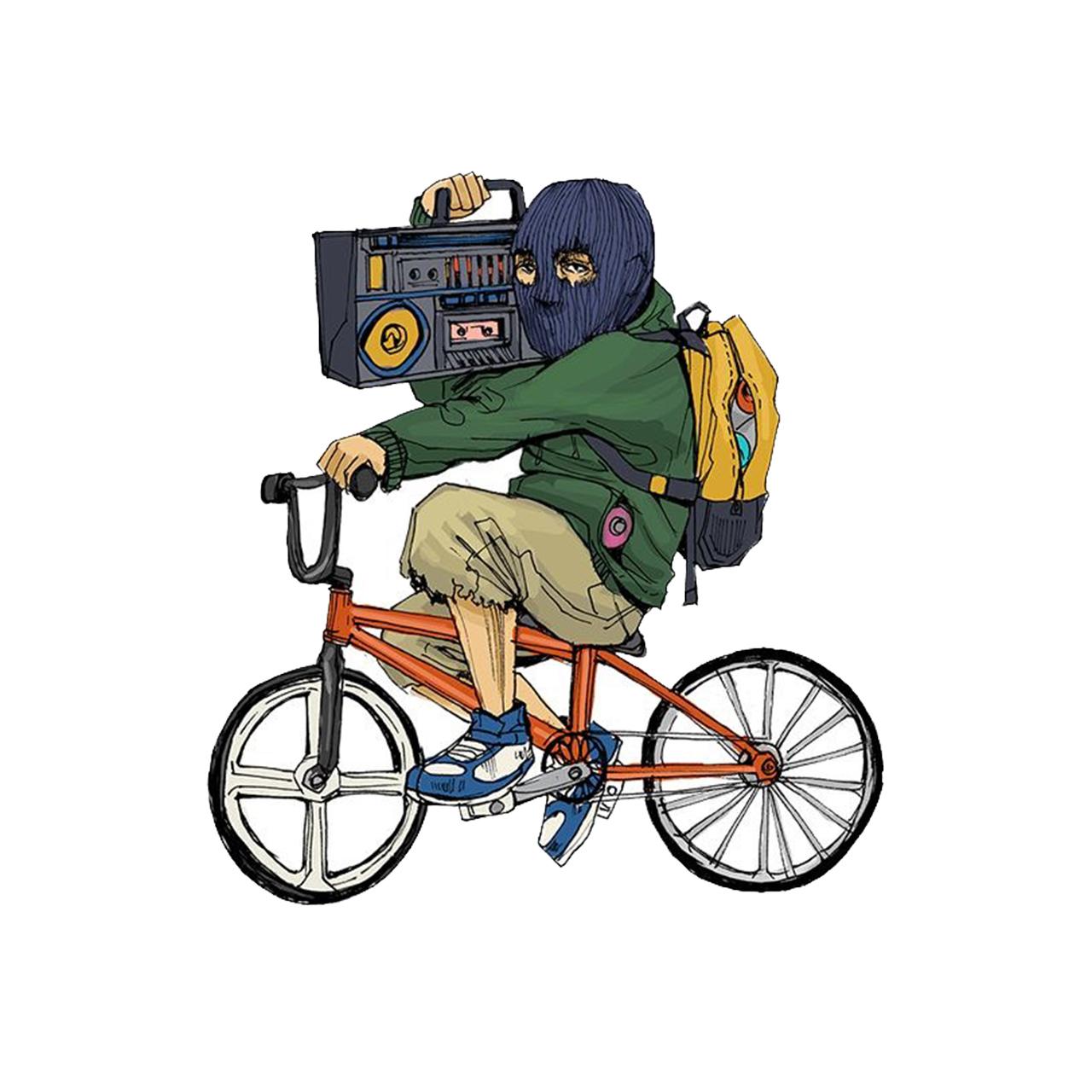 استیکر لپ تاپ طرح دوچرخه کد 1760