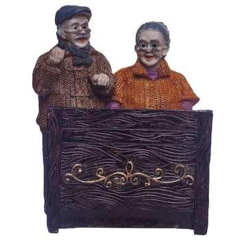مجسمه لیلپار طرح پیر زن و مرد پیانو زن مدل DGO-1046