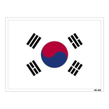 استیکر مستر راد طرح پرچم کره جنوبی مدل HSE 141