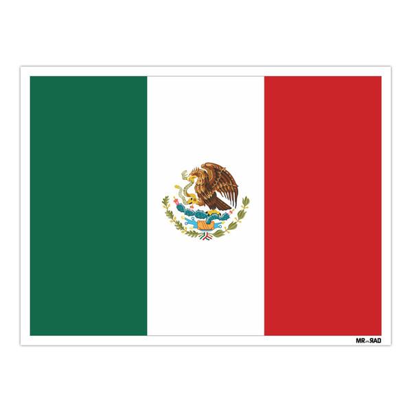 استیکر مستر رداد طرح پرچم مکزیک مدل HSE 163