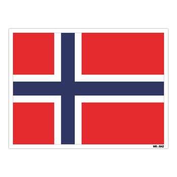 استیکر مستر راد طرح پرچم نروژ مدل HSE 180