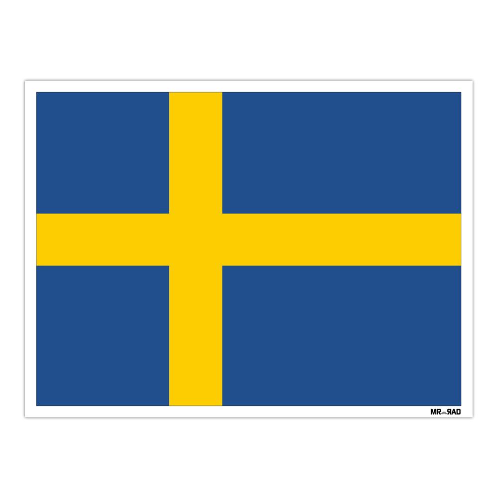 استیکر فراگراف FG طرح پرچم سوئد مدل HSE 215