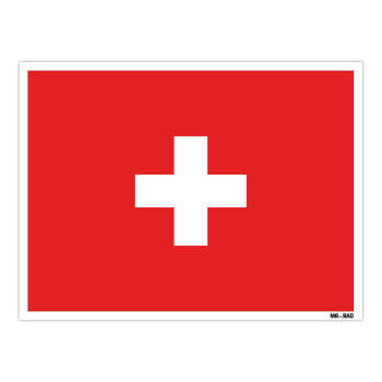 استیکر مستر راد طرح پرچم سوئیس مدل HSE 216