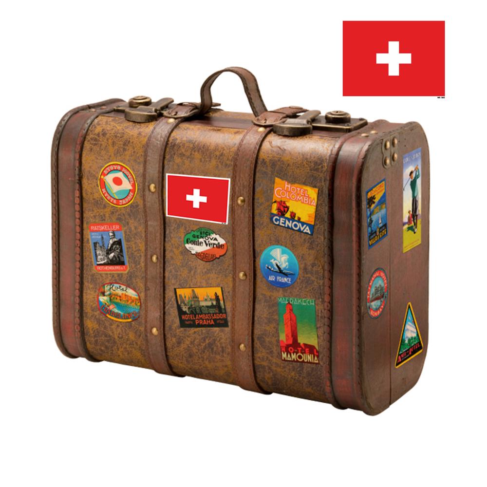 استیکر فراگراف FG طرح پرچم سوئیس مدل HSE 216