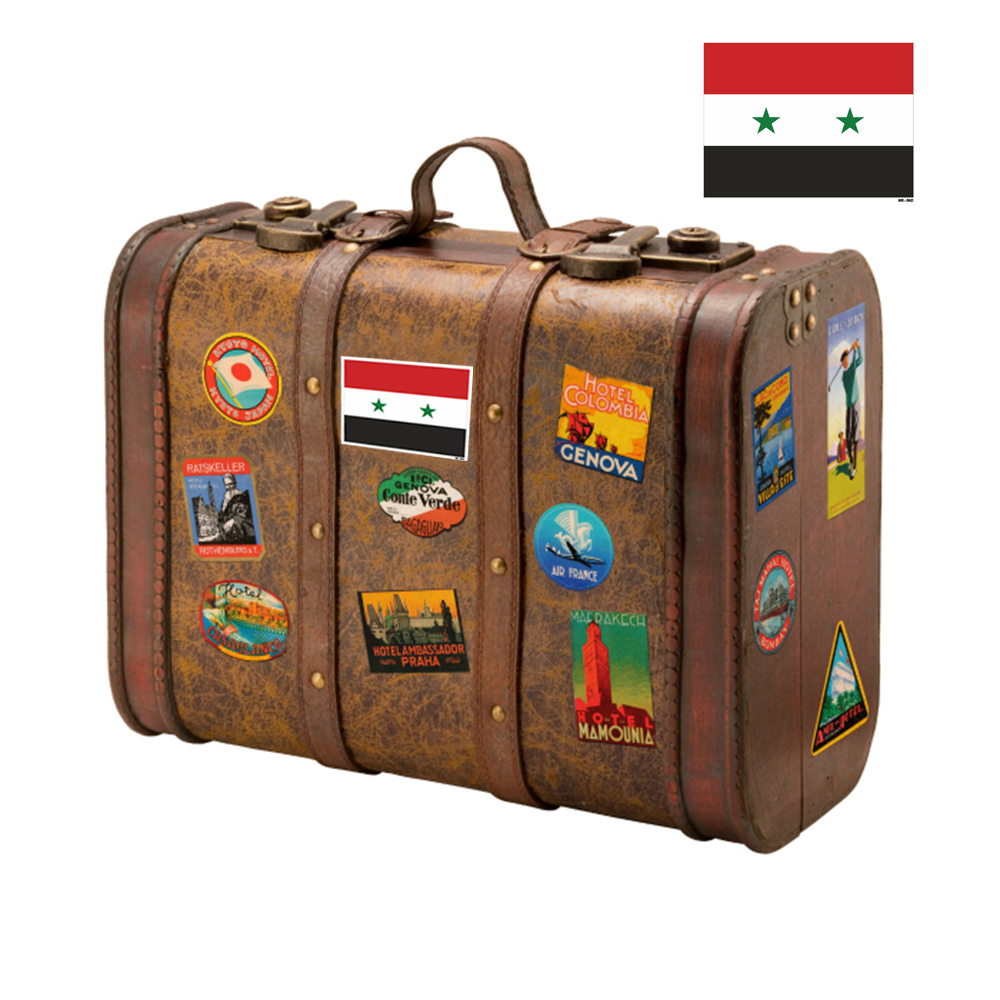 استیکر فراگراف FG طرح پرچم سوریه مدل HSE 217