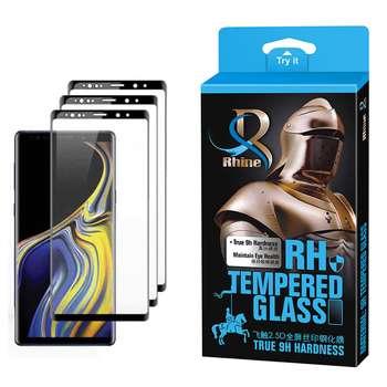 محافظ صفحه نمایش 9D راین مدل R3_9 Edge مناسب برای گوشی موبایل سامسونگ Galaxy Note 9 بسته سه عددی