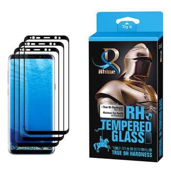 محافظ صفحه نمایش 9D راین مدل R3_9 Edge مناسب برای گوشی موبایل سامسونگ Galaxy S8 Plus بسته سه عددی