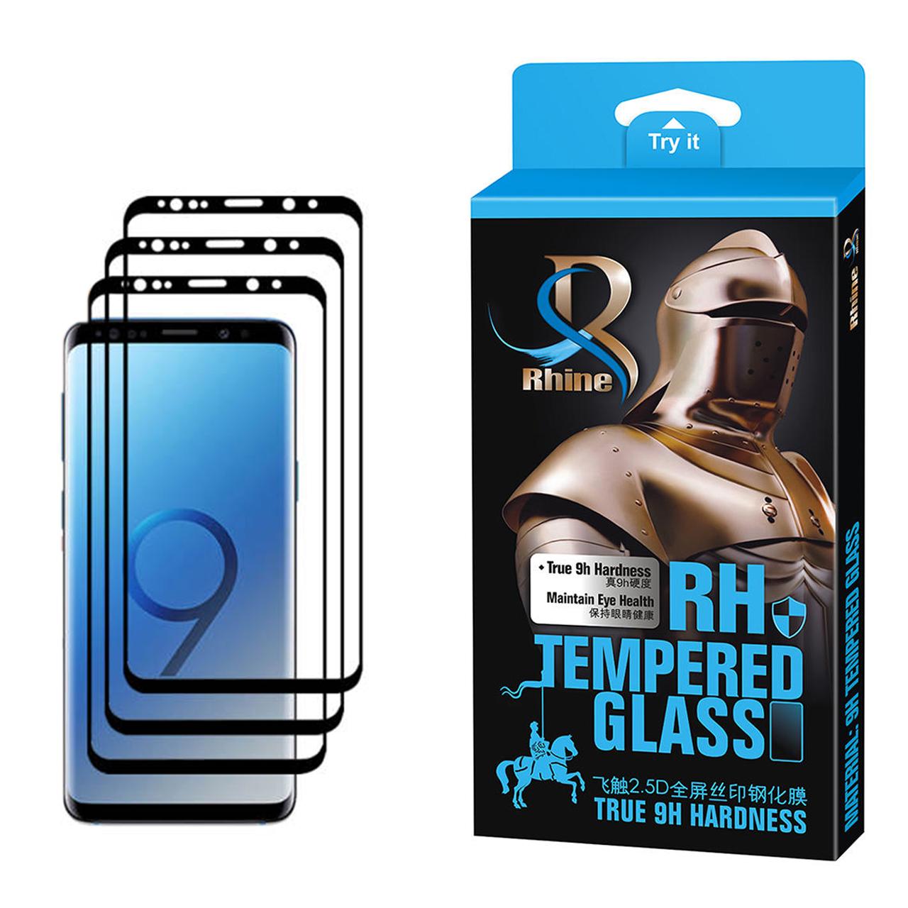 محافظ صفحه نمایش 9D راین مدل R3_9 Edge مناسب برای گوشی موبایل سامسونگ Galaxy S9 Plus بسته سه عددی