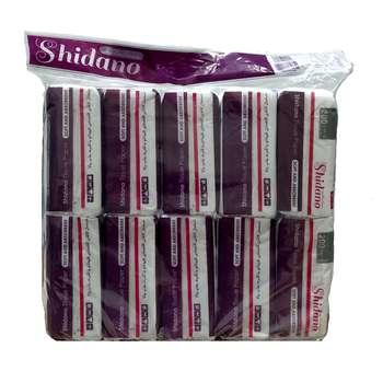 دستمال کاغذی 200 برگ شیدانو مدل بنفشه بسته 10 عددی