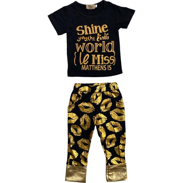 ست تی شرت و شلوار نوزادی دخترانه کد ۷۵۱