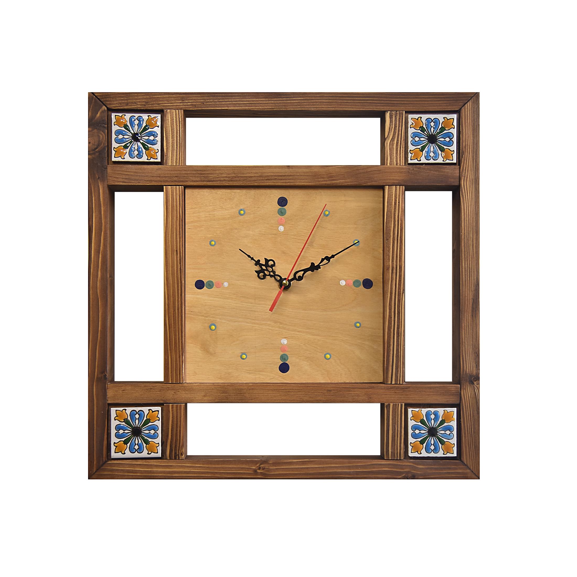 ساعت دیواری چوبی کد 12010
